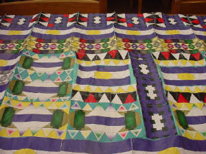 picture of a tessellated paper quilt